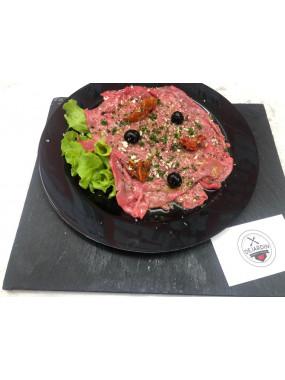 Assiette de carpaccio de bœuf