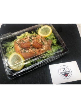 Coupelle de tartare aux deux saumon